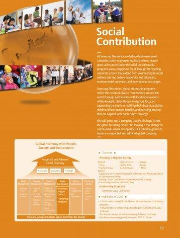 Social Contribution - Samsung