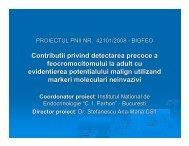 Contributii privind detectarea precoce a ... - Prezentare