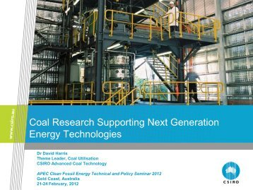 Coal Research Supporting Next Generation Energy Technologies