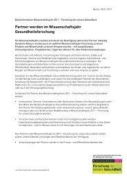 Partner werden im Wissenschaftsjahr Gesundheitsforschung (PDF)