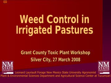 Weed Control in Irrigated Pastures - Grant County Extension Office ...