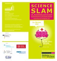 Flyer zum Science Slam Regionalwettbewerb Ost