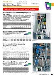 Aluminium-Stehleiter - FERESTA GmbH