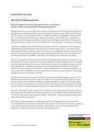 Pressemitteilung zum Start der Forschungsbörse