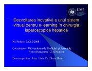 Dezvoltarea inovativa a unui sistem virtual pentru e ... - Prezentare