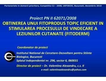 OBTINEREA UNUI FITOPRODUS TOPIC EFICIENT IN ...