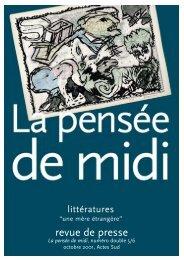"""Littératures... """"une mère étrangère"""" - La Pensée de Midi"""