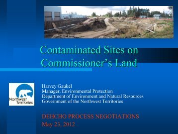 Contaminated Sites on Commissioner's Land