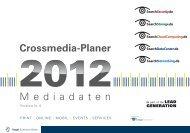 Mediadaten Crossmedia-Planer