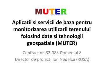 Aplicatii si servicii de baza pentru monitorizarea utilizarii terenului ...