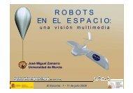 robots en el espacio - Proyecto Webs - Universidad de Murcia