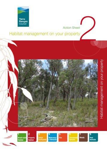 Habitat management on your property - Shire of Yarra Ranges