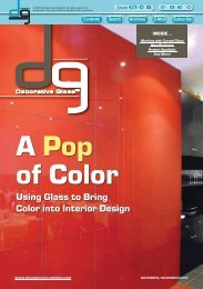 Using Glass to Bring Color into Interior Design - Decorative Glass ...