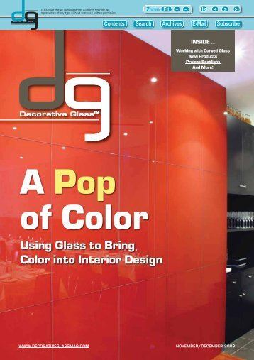 Using Glass to Bring Color into Interior Design - Decorative Glass ...