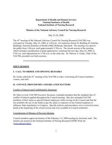 national institute of nursing research essay National institute of nursing research (ninr) scientific director: ann cashion,  phd, rn, faan ninr's intramural research program (irp) seeks to.
