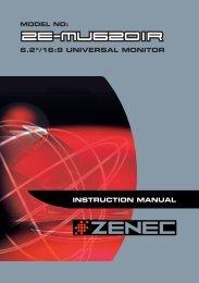 ZE-MU620IR Manual D+E.ai - Zenec