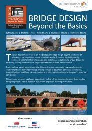 BRIDGE DESIGN - Engineers Australia