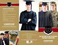 Leadership Scholar Program Marine Brochure