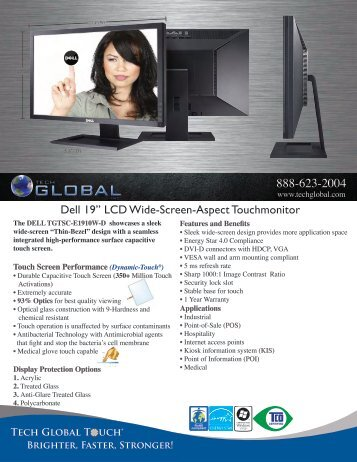 "Dell 19"" LCD Wide-Screen-Aspect Touchmonitor - Tech Global"