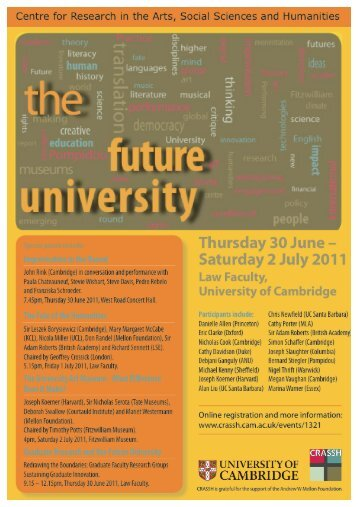Download Conference Booklet - CRASSH and - University of ...
