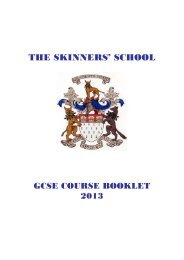 Options booklet - The Skinners' School