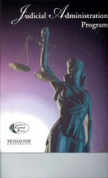 Program Brochure (PDF) - Judicial Administration @ Michigan State ...