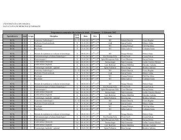Descarcati fisierul in format PDF - Facultatea de Medicina si ...