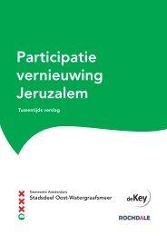 Participatie Jeruzalem - eerste tussentijds verslag - Stadsdeel Oost