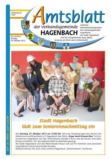 43/2013 - Verbandsgemeinde Hagenbach