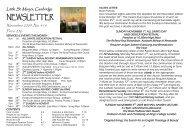 November 2009 Newsletter - Little St Mary's
