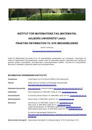 praktisk information til nye medarbejdere - Institut for Matematiske ...