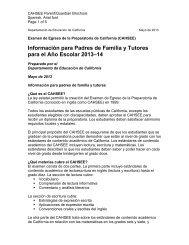 Información para Padres de Familia y Tutores para el Año Escolar ...