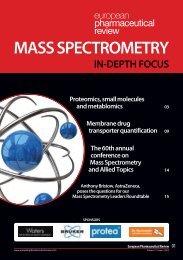 mass spectrometry in-depth focus - European Pharmaceutical Review