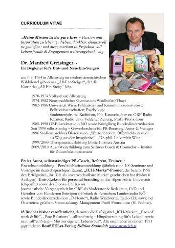 lebenslauf pdf edition stoareich - Lebenslauf Ausfuhrlich
