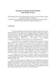 Garimpo e Inclusão Social no Brasil: dois estudos de caso - Cetem