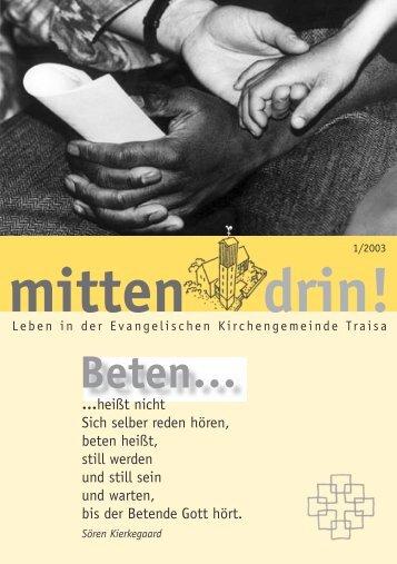 drin! mitten Beten… - Evangelische Kirchengemeinde Traisa