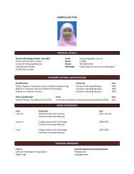 curriculum vitae personal details academic & other qualifications ...