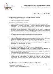 Déclaration finale - Sciences Po Aix