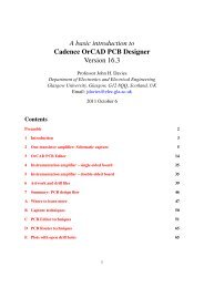 Cadence OrCAD PCB Designer - DCE FEL ČVUT v Praze