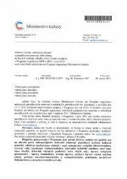 Průvodní dopis k rozpisu státní dotace v Programu - Ministerstvo ...