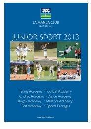 A4 junior sport English 2013 - La Manga Club