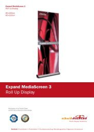 Expand MediaScreen 3 Roll Up Display - Easydisplay.com
