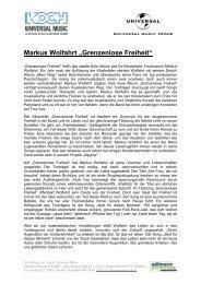 """Markus Wolfahrt """"Grenzenlose Freiheit"""" - Adlmann Promotion"""
