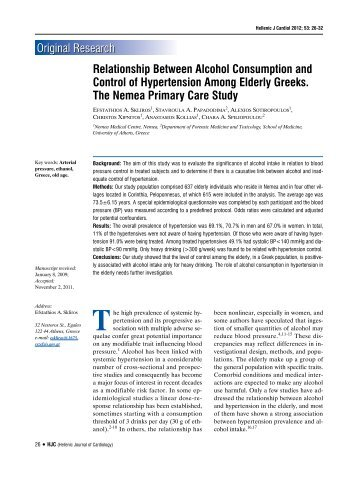 Relationship Between Alcohol Consumption and Control of ...