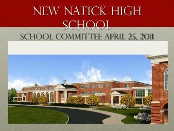 New natick High School update - Natick Public Schools