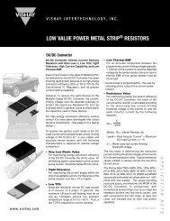 LOW VALUE POWER METAL STRIP RESISTORS - Vishay