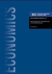 Benchmarking UK Competitiveness in the Global ... - Dius.gov.uk