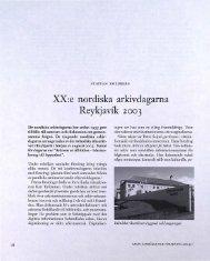 XX:e nordiska arkivdagarna Reykjavik 2003 - Visa filer