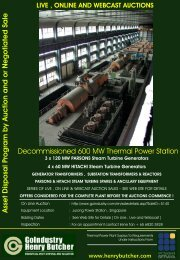 Decommissioned 600 MW Thermal Power Station