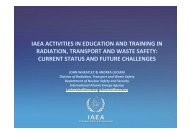 IAEA ACTIVITIES IN EDUCATION AND TRAINING IN RADIATION ...